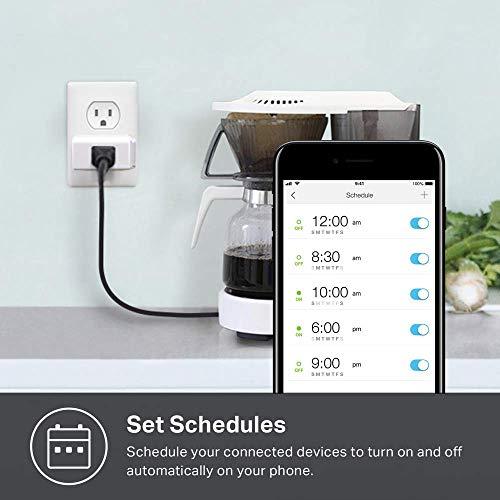 Kasa Smart Plug Mini, Smart Home Wi-Fi Outlet Works with Alexa & Google Home, Wi-Fi Simple Setup, No Hub Required – A…
