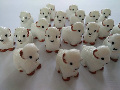 Ornaments Lamb (AMOBESTER Sime Charms 30Psc Lambs Decorative Slime Beads For Arts Crafts Ornament)