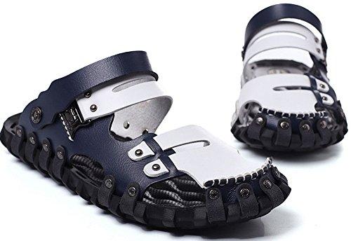 Vocni Heren Mode Casual Outdoor Volwassen Comfort Zomer Schoenen Sandalen Blauw-wit