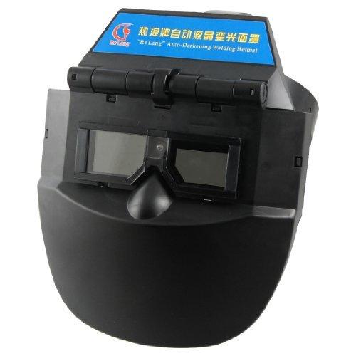 DealMux Black Plastic Auto Darkening Welding Helmet Mask Face Protector for Welder