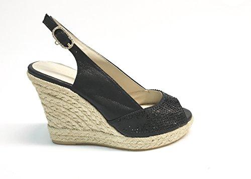 SARA LOPEZ - Sandalias de vestir de Satén para mujer multicolor multicolor 35 negro