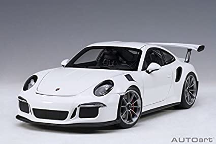 Porsche 911 (991) GT3 RS White with Dark Grey Wheels 1/18 Model