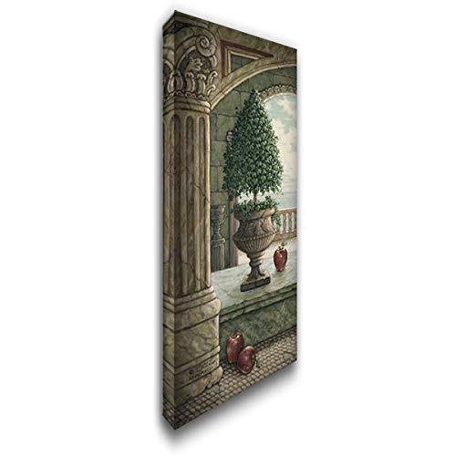 Apple and Topiary 12x20 Gallery Wrapped Stretched Canvas Art by Kruskamp, ()