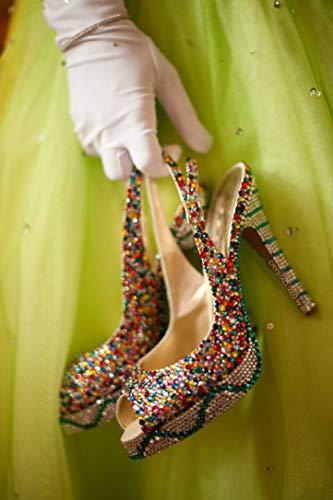 Custom Made Swarovski CRYSTALLIZED High Heels Bling Crystals
