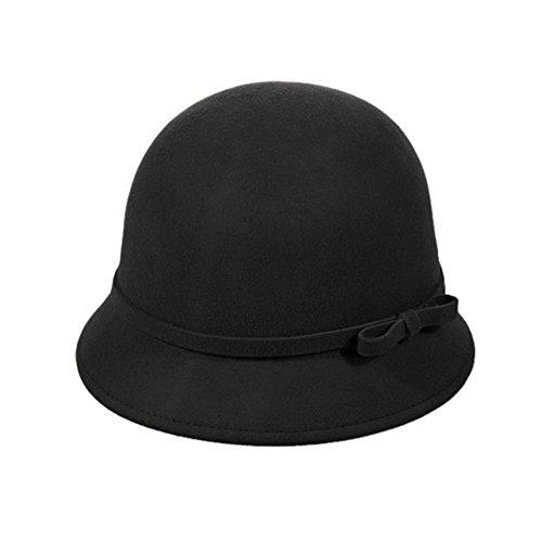 Vbiger Fedora Trilby Filzhut Damen Hüte Winter Hut Eleganter Hut Winter Damen Mütze Breite Krempe
