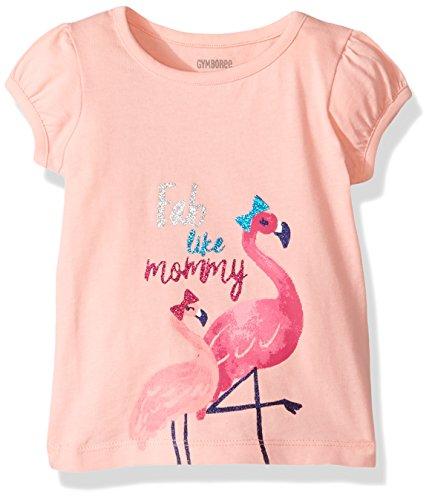Gymboree Baby Toddler Girls' Fab Flamingos Pink Graphic Tee, Rose Blush, 4T