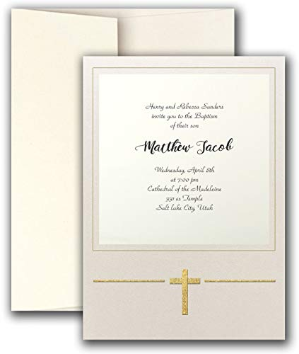 Religious Invitations Printable (Magical Cross Imprintable Invitation Card)