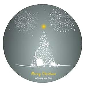 alfombrilla de ratón Navidad año nuevo - ronda - 20cm