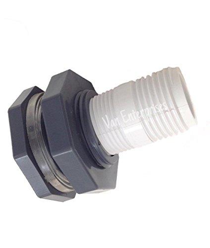 3/4' Bulkhead Fitting with Garden Hose Adapter Kit For Rain Barrels, Aquariums, Water Tanks, Ponds
