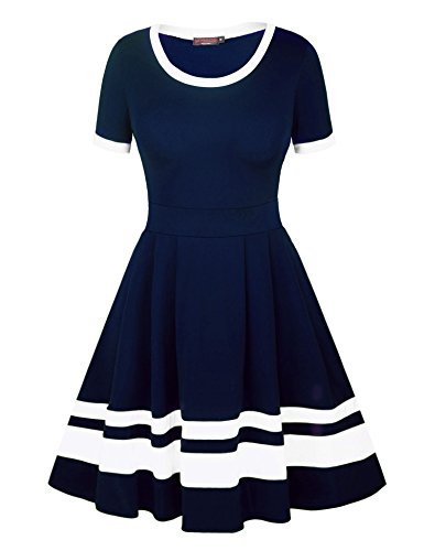 navy and blue striped dress - 8