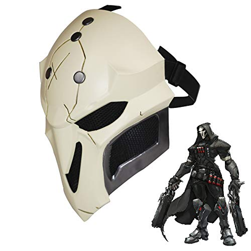 OW Reaper Cosplay Mask, 1:1 Replica Props Halloween Game Anime Face Cover Deluxe Costume Accessories