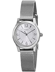 Timex Womens T2P457 Casey Dress Silver-Tone Stainless Steel Mesh Bracelet Watch