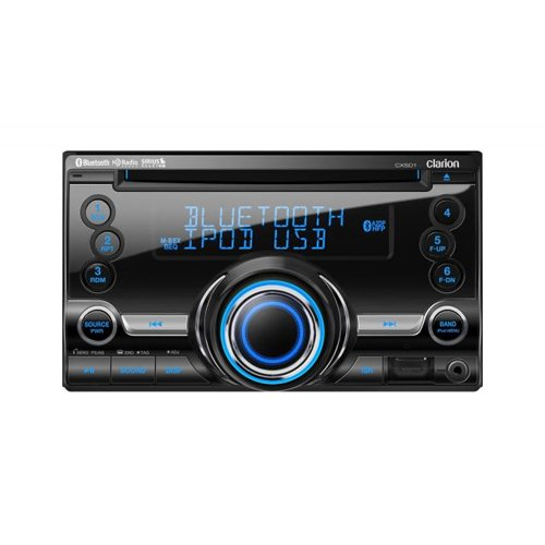 (Clarion CX501 Double-DIN CD/Bluetooth/USB Receiver)