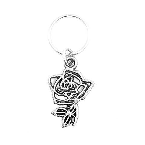 Theta Phi Alpha Metal Mascot Keychain (Rose)
