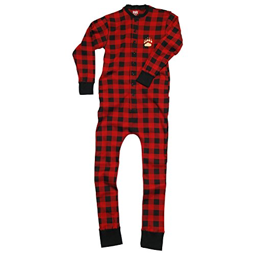 Bear Cheeks-Bear Adult Flapjack Onesie Union Suit by Lazy One (Onesie For Male Adults)