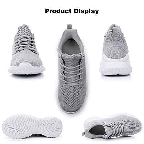 IPETSUN Womens Walking Shoes - Slip On Memory Foam Lightweight Breathable Mesh Running Sneakers for Gym Travel Work