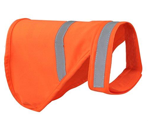 Dog Reflective Vest - Orange (Medium) ()