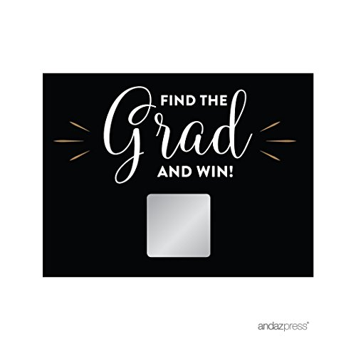 Andaz Press Personalized Graduation Photo Party Collection, New Grad Game Scratch Cards, 30-Pack, Custom ()