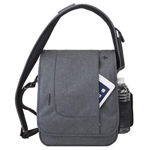 Travelon: Anti-Theft Urban N/S Messenger Bag - Slate