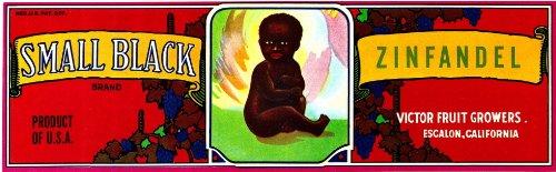 Small Black Zinfandel Original Grape Label (books folk art)