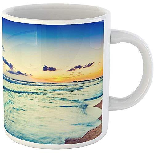 Funny Office Coffee Mug Background Amazing Sunset Over the Sea Beautiful Landscape Sri Lanka 11 Oz Ceramic Coffee Mugs Tea Cup Souvenir