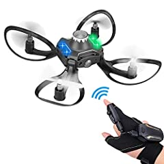 Mini drone is designed for children or beginners over the age of 14. Headless mode, gesture wireless control to fly up and down, 3D flip, make your flight super cool. This drone is not only a simple flying toy, but also a training four-wheele...