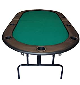 """84"""" Foldable Texas Hold'em Poker Table Table Top Color: Green"""