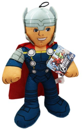 Marvel 9 Inch Avengers Assemble Thor Stuffed Plush Doll]()