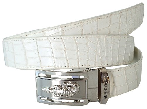 Authentic Sefaro Crocodile Skin Men's Big Belly Belt (38, White) by Authentic Sefaro Crocodile Skin