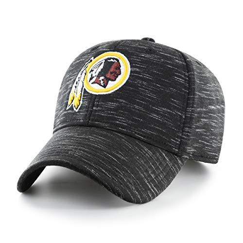 Washington Redskins Hats - OTS Adult NFL Men's Space Shot Star Adjustable Hat, Black, One Size