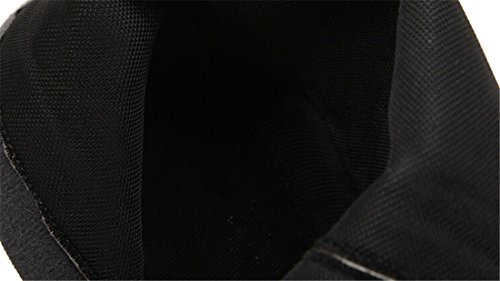 Wedge Talon Laterale Boot Mi Mode Haut Noir Mollet Chaussures Martin Bottes Glissiere Feminine qfwtxEatX