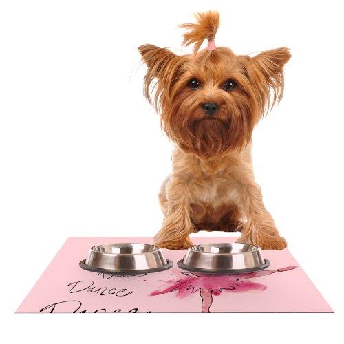 KESS InHouse Brienne Jepkema Ballerina Feeding Mat for Pet Bowl, 18 by - 13 Inch Ballerina