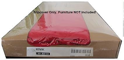 Ikea Kivik 3 Seat Sofa Cover Slipcover Ingebo Red 3 Seater
