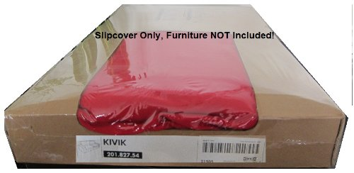 Amazon.com: Ikea Kivik 3 Seat Sofa Cover Slipcover Ingebo Red 3 Seater:  Home U0026 Kitchen