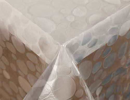 Vinylla – Tovaglia trasparente in PVC, facile da pulire, plastica PVC, Trasparente, 140 x 180 cm