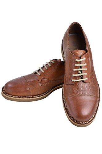 Brunello Cucinelli Schuhe Herren Braun Hellbeige Leder Halbschuhe 42