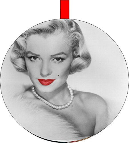 Marilyn Monroe Red Lips Christmas Tree Holiday Ornament Printed Double- 2 Sided Decoration Great Unisex (Monroe Marilyn Xmas)