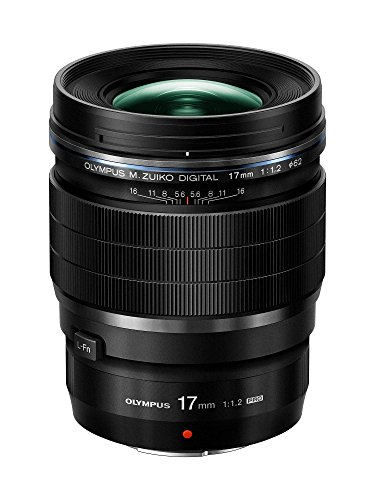 Olympus M.Zuiko Digital ED 17mm F1.2 PRO Lens, for Micro Four Thirds Cameras