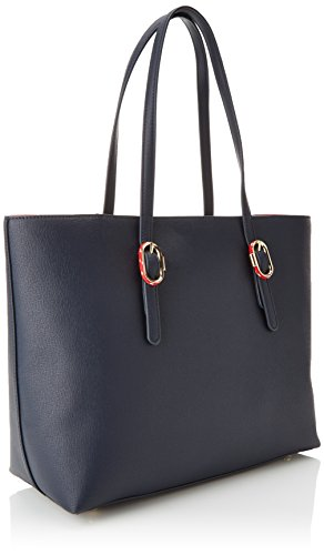 Femme Navy Buckle épaule Tommy Tommy Th Hilfiger Bleu Sacs portés Tote AW0AW05553 wUx68UqP