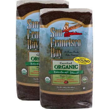 San Francisco Bay Organic Rain Forest Blend Ground Coffee 3 lb. Bag 2-pack - Bay Area Blend