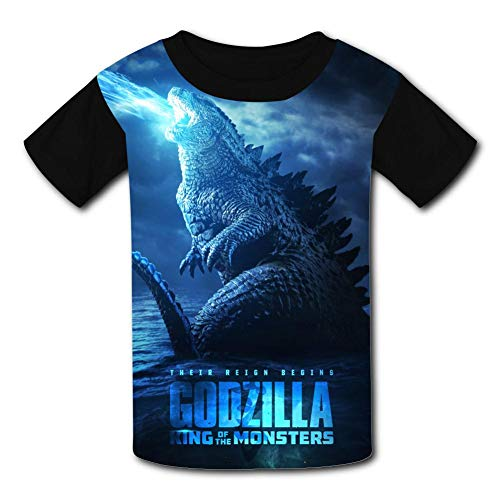 BEKAI Youth Summer Kids Short Sleeve G-od-Zill-a Blue Laser Monster Comfortable Printed T-Shirts Tees for Children Boys Girls - Funky Toddler T-shirts