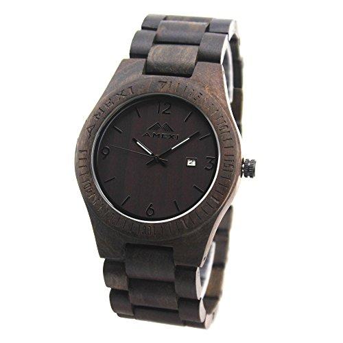 Greentreen orologio in legno l 39 orologio di legno con for Orologio legno amazon