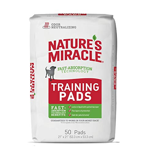 Nature's Miracle Puppy Training Pads With Fast Absorption Technology, 50 Count