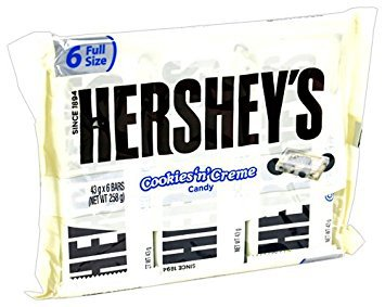 Hershey's Cookies 'n' Creme Candy Bar – Kids Favorite Snacks 1.55 Oz (Pack of -