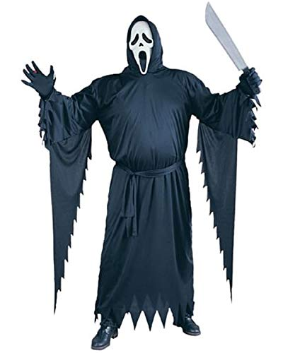 FunWorld  Adult Plus Scream Costume, Black, One Size -