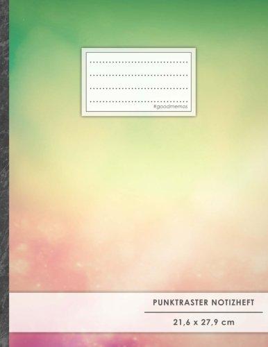 "Punktraster Notizbuch • A4-Format, 100+ Seiten, Soft Cover, Register, ""Lebensfreude"" • Original #GoodMemos Dot Grid Notebook • Perfekt als Bullet Journal, Zeichenbuch, Skizzenbuch, Calligraphie Buch"
