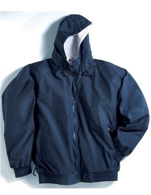 (Premium Quality Men's Tall Sizes 100% Toughlan Nylon Bay Watch Jacket - Navy, 2XLT)