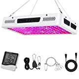 Phlizon Newest 1500W High Power Series Plant LED Grow Light,with Thermometer Humidity Monitor,