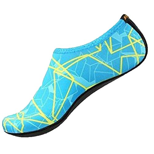 Natation D'aqua Plage Pour Le Yoga Hansee L'eau Chaussettes De Sport Chaussures Plonge Peau Bleu Extrieures nf0wPqqa
