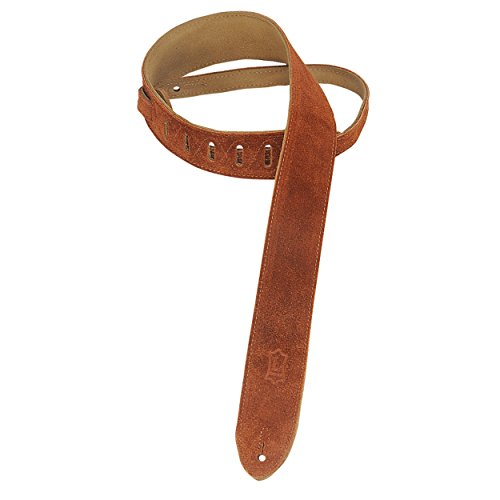 """Levy's Leathers MS12-CPR 2"""" Hand-Brushed Suede Guitar Strap, Copper"""